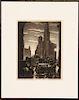"SAMUEL MARGOLIES ""STORM OVER CITY HALL"" C.1936"