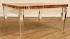 UNUSUAL LUCITE COFFEE TABLE MARBLE TOP 1970