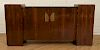 FRENCH ART DECO ROSEWOOD MARBLE TOP BUFFET 1930
