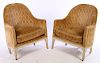 PAIR 19TH CENTURY FRENCH LOUIS XVI BERGERE CHAIRS