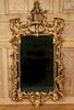 CHIPPENDALE STYLE GILT WOOD MIRROR CARVED