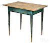 Mid-Atlantic painted hard pine work table