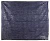 New England blue linsey-woolsey quilt