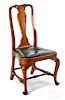 Massachusetts Queen Anne walnut dining chair