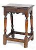 George I oak joint stool