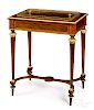 French marquetry and ormolu mounted wine table