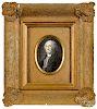 Transfer decorated portrait medallion of George Washington