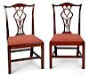 Pair of Chippendale mahogany dining chairs
