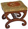 Classical mahogany footstool
