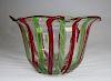 Signed Multi-Colored Art Glass Bowl, Murano Style