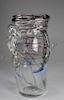 Murano Style, Hand Blown Art Glass Vase