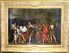 """18th C. Old Master Painting, """"Death of Germanicus"""""""