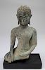 Antique Cast Theravada Buddha on Stand