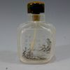 CHINESE ANTIQUE PEKING GLASS INSIDE PAINTED SNUFF BOTTLE - SIGNED