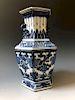CHINESE ANTIQUE BLUE AND WHITE PORCELAIN VASE, 19C