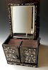 CHINESE ANTIQUE MIRROR LUODIAN WOOD BOX