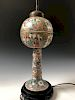 A FINE CHINESE ANTIQUE FAMILLE ROSE LAMP