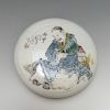 CHINESE ANTIQUE FAMILL ROSE PORCELAIN BOX AND COVER, MARKED