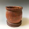 CHINESE ANTIQUE BAMBOO CARVING BRUSHPOT