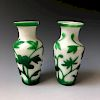 A PAIR OF CHINESE ANTIQUE PEKING GLASS.