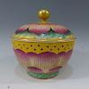 CHINESE FAMILLE ROSE COVER BOWL - QIANLONG MARK