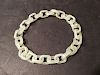 OLD Chinese White Jade Chain Bracelet