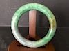 """OLD Chinese Feicui (Green Jade) Bangle, 3 1/4"""" -2 3/8"""" diameter"""
