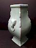 ANTIQUE Chinese Square Monochrome green vase, Yongzheng mark and period