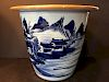 ANTIQUE Chinese Blue and White Pot, 19th century