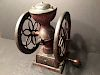 "ANTIQUE Large Metal Coffee Grinder, marked. 12"" x 8 1/2"" x 7 1/2"""