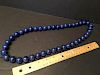 "FINE Chinese Lapis Lazuli Large Bead Necklace, 32"" long"