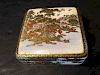 ANTIQUE Japanese Satsuma Box with Paintings, Meiji period