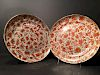 """OLD Chinese Large Pair of Sacred Birds Plates, 19th century. 9 1/2"""""""