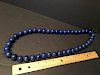 """OLD Fine Chinese Large Beads Lapis Necklace, 32"""" long"""