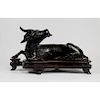 Chinese Yuan Dynasty Bronze Xiniu Mirror Stand