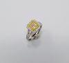18K White Gold & Yellow Diamond Ring