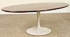 KNOLL ROSEWOOD COFFEE TABLE TULIP BASE 1970