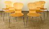 SET 6 LABELED KNOLL STUDIO SPRITE STACKING CHAIRS