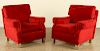 PAIR FRENCH CLUB CHAIRS JEAN MICHEL FRANK 1945