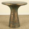 FRENCH ROUND RESIN OCCASIONAL TABLE GOLD WASH