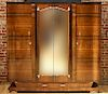 FRENCH ART DECO MIRRORED DOOR ARMOIRE C.1940