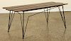 ITALIAN IRON & WOOD COFFEE TABLE 1950