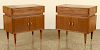 PAIR ITALIAN WALNUT NIGHT STANDS CIRCA 1960