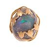 A Ladies Large Opal Floral Ring in 14K