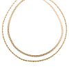 A Pair of Ladies Necklaces in Gold