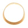 A Ladies Wide 18K Choker Necklace