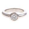 A Tiffany & Co Bezel Set Diamond Engagement Ring