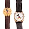 A Pair of Mickey Mouse Watches by Lorus
