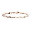 A Ladies 14K Two Tone Diamond Link Bracelet