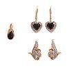Two Pairs of Sapphire & Diamond Earrings & Pendant